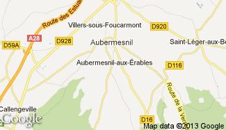 Plan de Aubermesnil-aux-Érables
