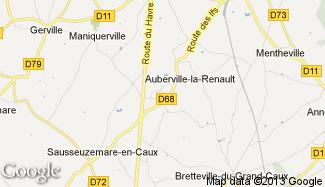 Plan de Auberville-la-Renault