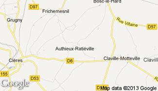 Plan de Authieux-Ratiéville
