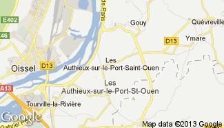 Plan de Les Authieux-sur-le-Port-Saint-Ouen