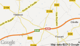 Plan de Auzouville-Auberbosc