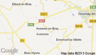 Plan de Avesnes-en-Bray