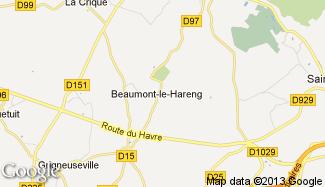 Plan de Beaumont-le-Hareng