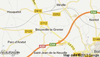 Plan de Beuzeville-la-Grenier