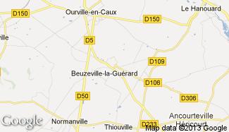 Plan de Beuzeville-la-Guérard