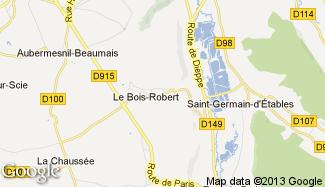 Plan de Le Bois-Robert