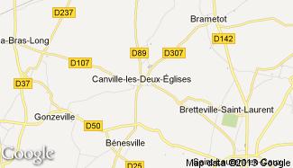 Plan de Canville-les-Deux-Églises