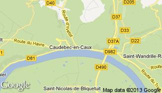 Plan de Caudebec-en-Caux