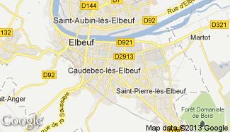 Plan de Caudebec-lès-Elbeuf