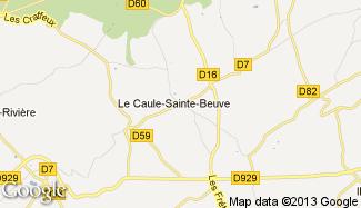 Plan de Le Caule-Sainte-Beuve