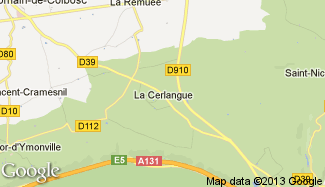 Plan de La Cerlangue