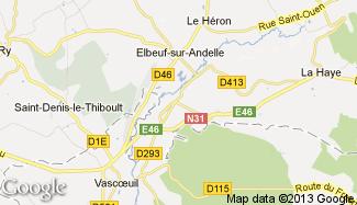 Plan de Croisy-sur-Andelle