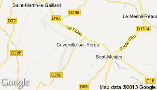 Plan de Cuverville-sur-Yères