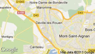 Plan de Déville-lès-Rouen