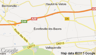 Plan de Écretteville-lès-Baons