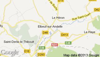 Plan de Elbeuf-sur-Andelle