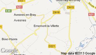 Plan de Ernemont-la-Villette