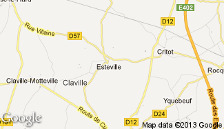 Plan de Esteville