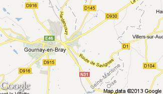 Plan de Ferrières-en-Bray