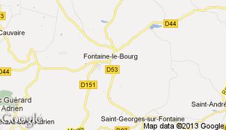 Plan de Fontaine-le-Bourg