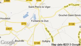 Plan de Fontaine-le-Dun
