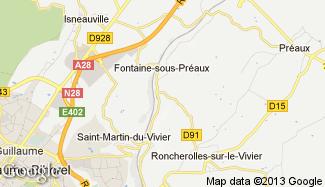 Plan de Fontaine-sous-Préaux