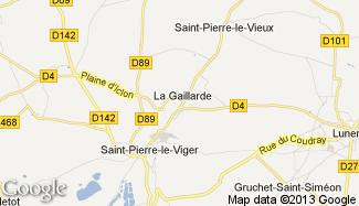 Plan de La Gaillarde