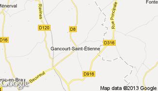 Plan de Gancourt-Saint-Étienne