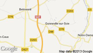 Plan de Gonneville-sur-Scie