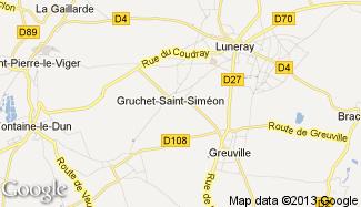 Plan de Gruchet-Saint-Siméon