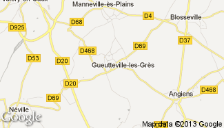 Plan de Gueutteville-les-Grès
