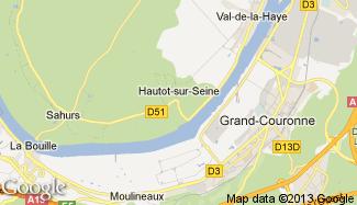 Plan de Hautot-sur-Seine