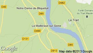 Plan de La Mailleraye-sur-Seine
