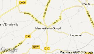 Plan de Manneville-la-Goupil