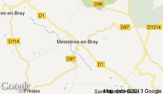 Plan de Mesnières-en-Bray