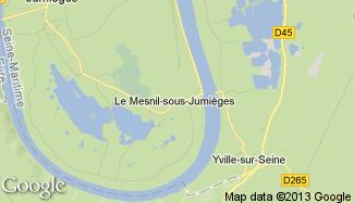 Plan de Le Mesnil-sous-Jumièges