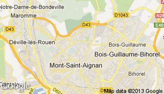 Plan de Mont-Saint-Aignan