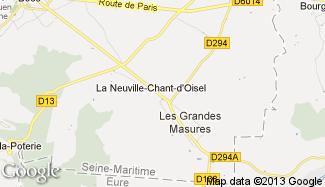Plan de La Neuville-Chant-d'Oisel