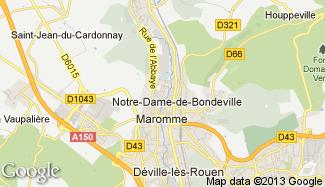 Plan de Notre-Dame-de-Bondeville