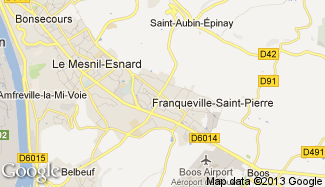 Plan de Franqueville-Saint-Pierre