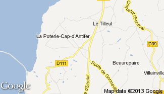 Plan de La Poterie-Cap-d'Antifer