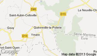 Plan de Quévreville-la-Poterie