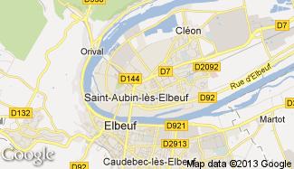 Plan de Saint-Aubin-lès-Elbeuf