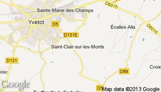 Plan de Saint-Clair-sur-les-Monts