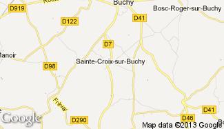 Plan de Sainte-Croix-sur-Buchy