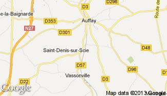 Plan de Saint-Denis-sur-Scie