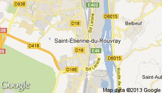 Plan de Saint-Étienne-du-Rouvray