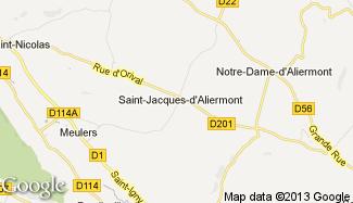 Plan de Saint-Jacques-d'Aliermont