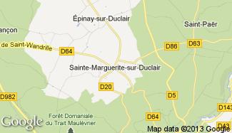 Plan de Sainte-Marguerite-sur-Duclair