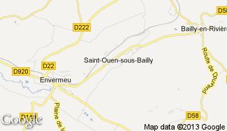 Plan de Saint-Ouen-sous-Bailly